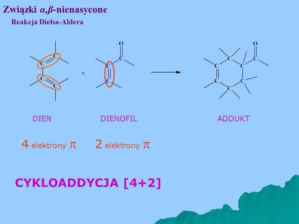 4 elektrony  2 elektrony  CYKLOADDYCJA [4+2] Związki α,β-nienasycone